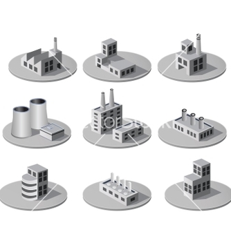 Free isometric city vector - Free vector #239005