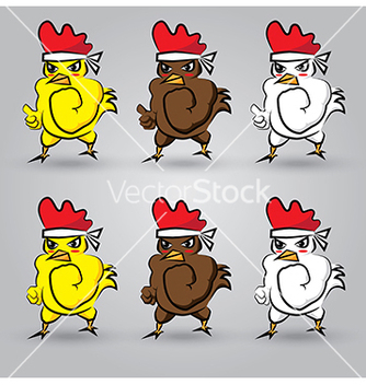 Free strong chicken vector - Free vector #239025