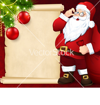 Free santa claus with the card vector - vector gratuit #239065