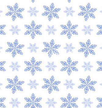 Free winter pattern with snowflakes vector - Kostenloses vector #239285