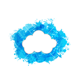 Free grungy frame with cloud vector - Free vector #239295