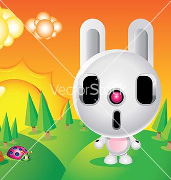 Free rabbit character vector - vector gratuit #239425