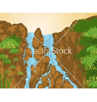 Free waterfall vector - Free vector #239435