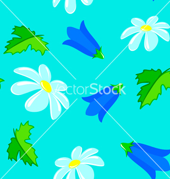 Free flowers seamless vector - Kostenloses vector #239485