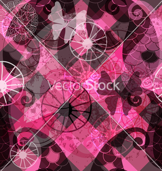 Free seamless dark purple pattern vector - Free vector #239585