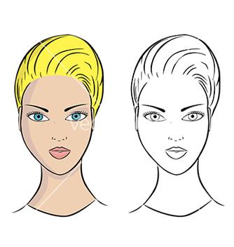 Free girl portrait vector - Kostenloses vector #239595