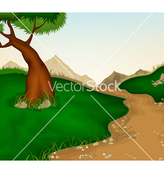 Free landscape and nature background vector - Free vector #239675