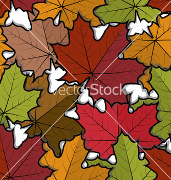 Free seamless pattern from maple leaves vector - vector #239735 gratis
