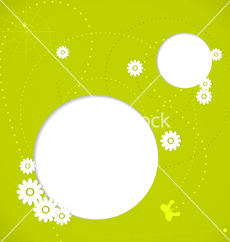 Free green spring background with white flowers vector - Free vector #239755