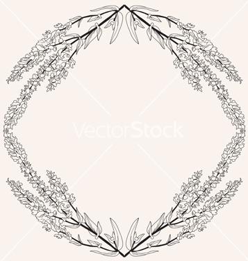 Free floral frame vector - vector #239805 gratis