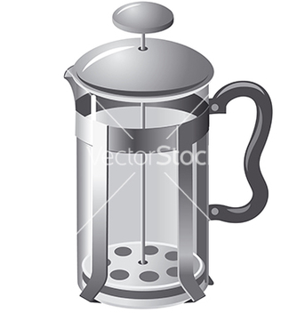 Free french press teapot vector - vector #240025 gratis