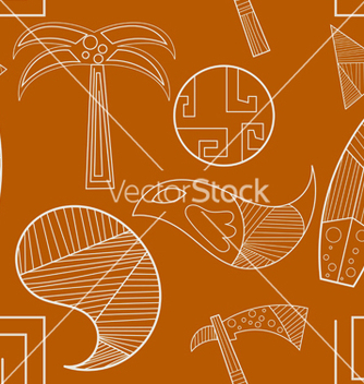 Free seamless texture with elements of ancient art vector - Free vector #240045