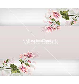 Free floral background vector - Free vector #240245