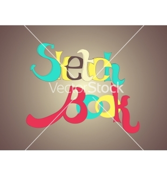 Free sketch book letters vector - Free vector #240455