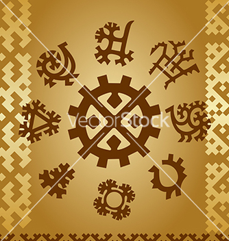 Free patterns of northern finno ugric tribes vector - Free vector #240475
