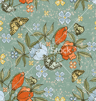 Free seamless floral background vector - Free vector #240605