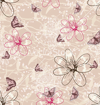 Free seamless floral background vector - Free vector #240625