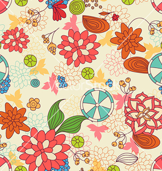 Free seamless floral background vector - Free vector #240635