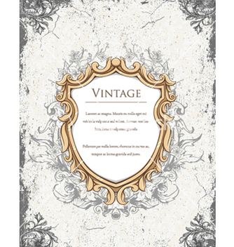 Free vintage floral frame vector - Kostenloses vector #240755