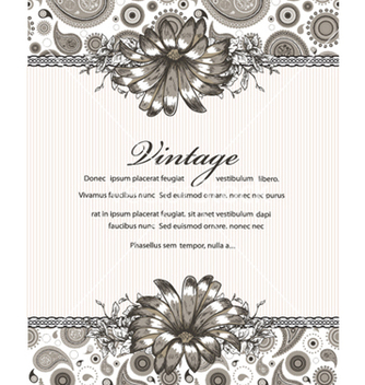 Free vintage floral background vector - Free vector #240785