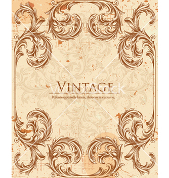Free vintage floral background vector - Kostenloses vector #240815