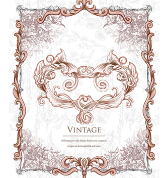 Free vintage floral background vector - Kostenloses vector #240825