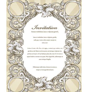 Free vintage floral frame vector - Kostenloses vector #240835