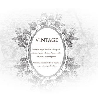 Free vintage floral frame vector - Kostenloses vector #240845