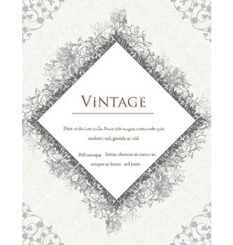 Free vintage floral frame vector - Kostenloses vector #240865