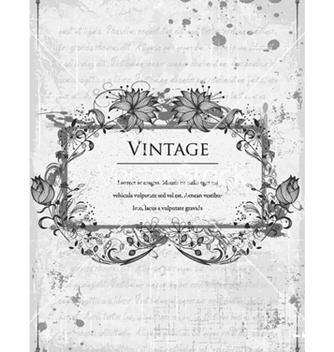Free vintage floral frame vector - Kostenloses vector #240885