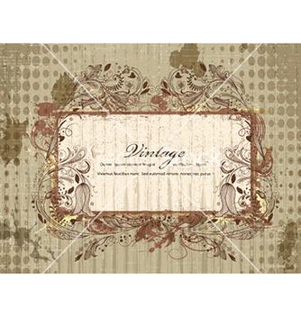 Free grunge floral frame vector - vector #240965 gratis