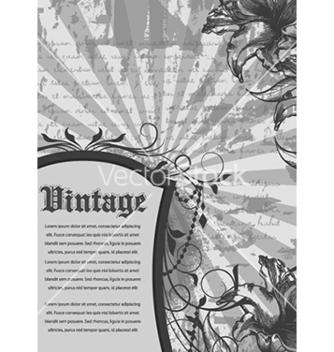 Free vintage floral frame vector - Free vector #241005