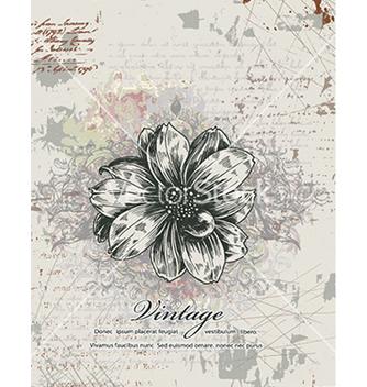Free vintage floral background vector - Free vector #241015