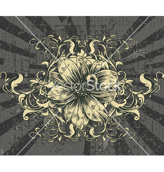 Free vintage floral frame vector - Free vector #241045