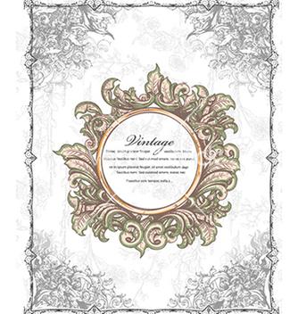 Free vintage floral frame vector - Kostenloses vector #241095