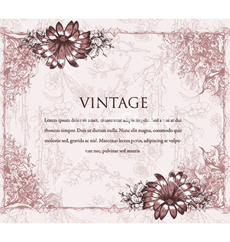 Free vintage floral background vector - Free vector #241105