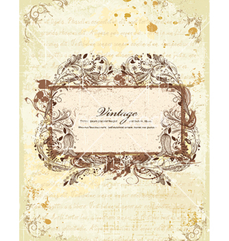 Free grunge floral frame vector - vector #241115 gratis