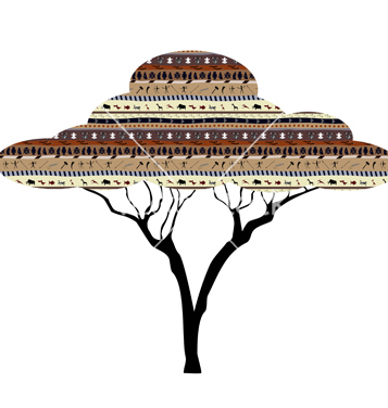 Free abstract tree african savanna vector - Free vector #241165