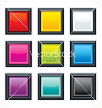 Free square empty buttons vector - Kostenloses vector #242195