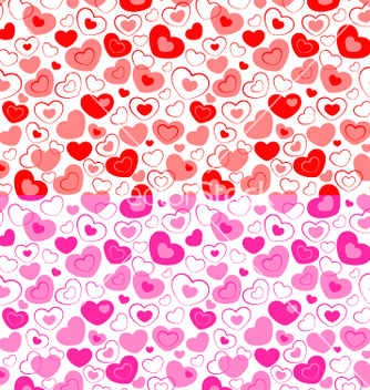 Free dual seamless hearts pattern vector - Kostenloses vector #242205