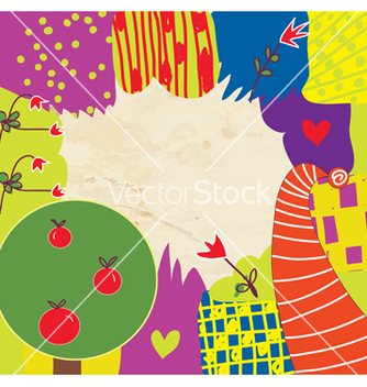 Free abstract kids funny background with flowers vector - Kostenloses vector #242385