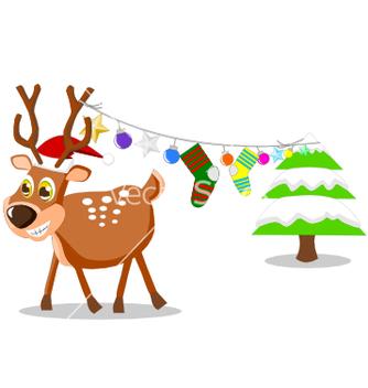 Free reindeer vector - vector gratuit #242415