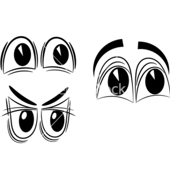 Free cartoon eyes eps10 vector - Kostenloses vector #242505