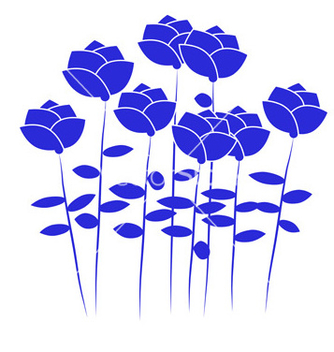 Free blue flowers vector - бесплатный vector #242735