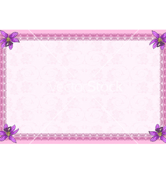 Free invitation with floral vector - Free vector #242785