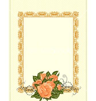 Free vintage floral frame vector - Free vector #242955