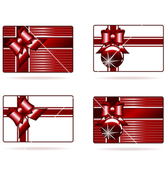 Free set of gift cards vector - Free vector #242985