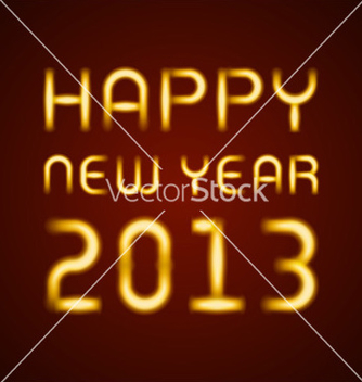 Free neon light happy new year message vector - Free vector #243065