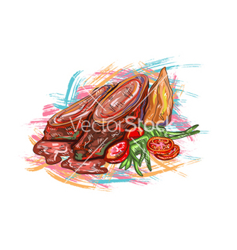 Free cooked food vector - Kostenloses vector #243285