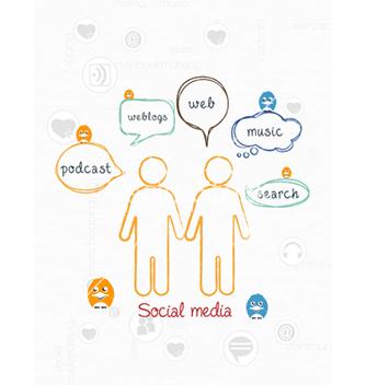 Free social media vector - Kostenloses vector #243375